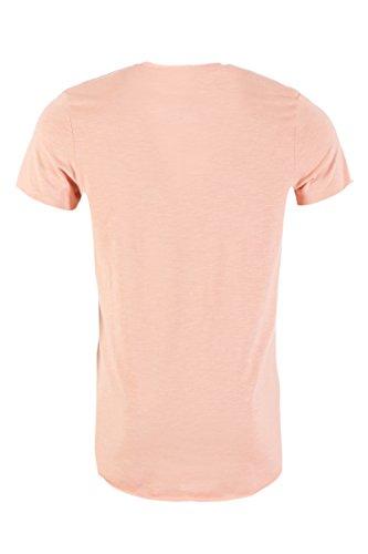 JACK & JONES Herren T-Shirt Jorbas Tee Ss U-Neck Noos Peach-Beige