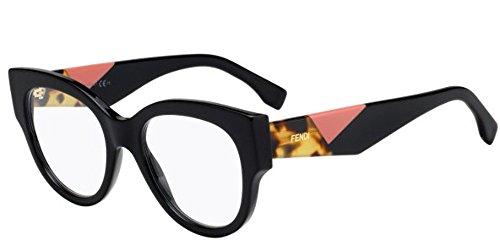 Fendi ff 0271 807 50, occhiali da sole donna, nero (black)