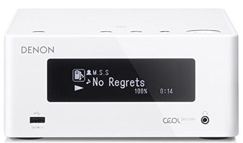 k CEOL Piccolo Stereo Receiver (2x 40 Watt, Internetradio, DLNA, AirPlay, Bluetooth, Spotify Connect, App Steuerung) weiß ()