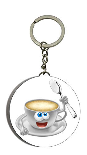 Alte Person Einfach Kostüm - Gifts & Gadgets Co. Cartoon Kaffeetasse New Key Ring Flaschenöffner Schlüsselanhänger 58mm Keychain Trinker
