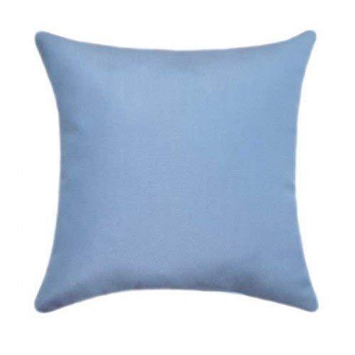 Blue Sunbrella-set (Betsy34Sophia Sunbrella Canvas Air Blue Kissenbezug Blue indoorOutdoor Kissen Outdoor Lenden Patio Kissenbez¨¹ge Solid Blue Sunbrella Kissen)