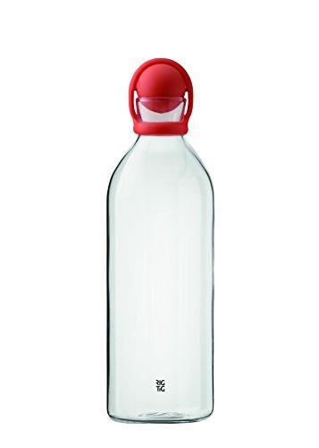 RIG-TIG by Stelton Z00071-2 Cool-It Wasserkaraffe, Glas, orange, 9.4 x 9.4 x 33 cm