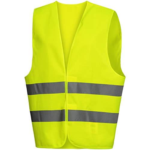 Nitras Warnweste - Gelbe Warnschutzweste mit Reflexstreifen für Damen & Herren - Schutzweste mit Klettverschluss - Größe S