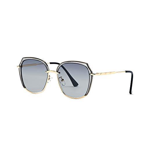 Einfache Brille HD-Objektiv 100% UV-Schutz Aviator Large Metal Mirrored Sunglasses (Farbe : Grün, Größe : Casual Size)