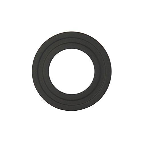 Kamino Flam 122688 Ofenrohrrosette, Sichtblende aus Stahl speziell für Pelletöfen, Kaminrosette mit hitzebeständiger Senotherm Beschichtung, Rosette geprüft nach Norm EN 1856-2, Schwarz, durchmesser 100 mm