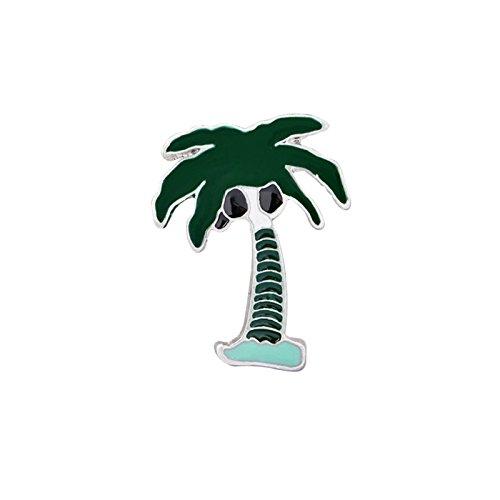 Adisaer Damen Karikatur Brosche Emaille Kokosnussbäume Broschen Schwarz Mädchen 1 Stück Trauung (Abercrombie Großhandel Fitch)