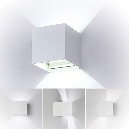 Lampada da parete led,7w bianco freddo applique da parete,alluminio,impermeabile ip65,luce calda (bianco)