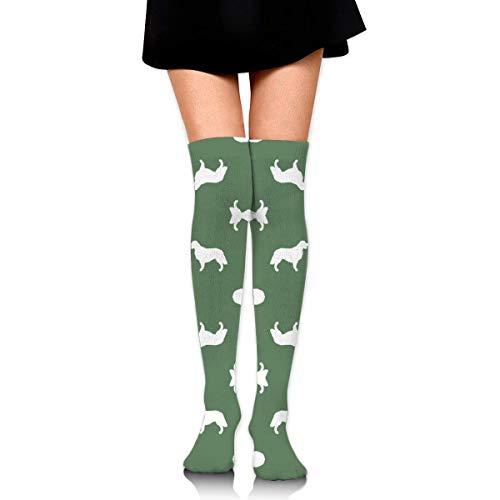 DGHKH Golden Retriever Silhouette Dog Breed Fabric Mediu Novelty Socks Tall Socks Knee High Graduated Compression Socks for Unisex -