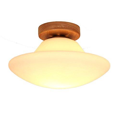 Nord Europa rotonda di legno solido antipolvere LED calda luce di soffitto Soggiorno Corridoio Balcone Luce Camera soffitto [Efficienza: A +] ( colore : 7W )