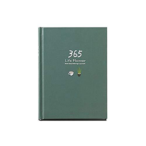 WINJEE, Agenda per 365 Giorni Agenda Personale per diario con Copertina a Libro 2019 Agenda settimanale per Ufficio 2