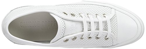Candice Cooper Rock.bord.vit.traforato, Baskets Basses femme Blanc - Weiß (bianco)