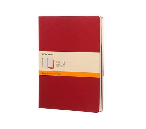 Cahier ruled XL, red