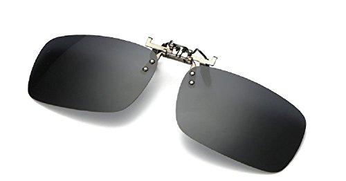 Embryform Polarizado Clip-on Flip up Clip de metal Gafas de sol Lentes Gafas Unbreakable Conducción Pesca Deportes al aire libre