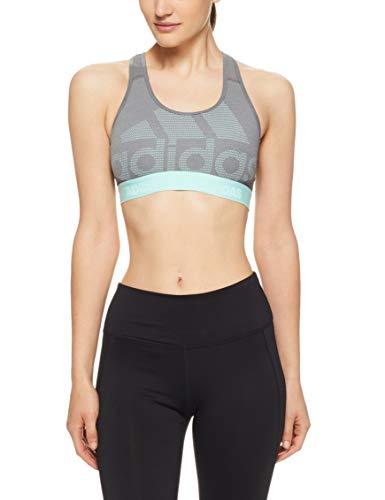 Dont Mesh (adidas Damen Don't Rest Alphaskin Long Sport BH Mit Mittlerer Unterstützung, Dark Heather/Grey Four/Clear Mint, XS)