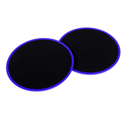 Homyl Sliders, Dual Sided Gliding Discs Uso su Moquette o Pavimenti per Allenamento Yoga, Pilates, Palestra Attrezzo - Blu