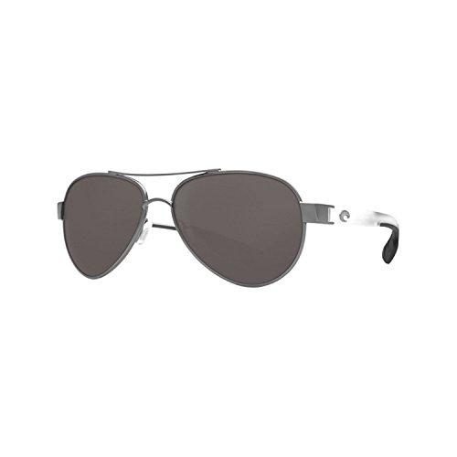 Gunmetal W/ Crystal Temples Gray 580glass , Gray 580Glass : Costa Del Mar Loreto Sunglasses