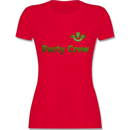 Festival - St. Patricks Day Party Crew - tailliertes Premium T-Shirt mit Rundhalsausschnitt für Damen Rot