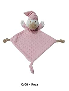 Duffi Baby- Dou Patito Topitos, 24 x 24 cm, Color Rosa (Master Baby Home, S.L. 5269-06)