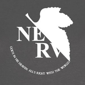 Planet Nerd - Neon Genesis Evangelion - Nerv Logo - Herren T-Shirt Marine