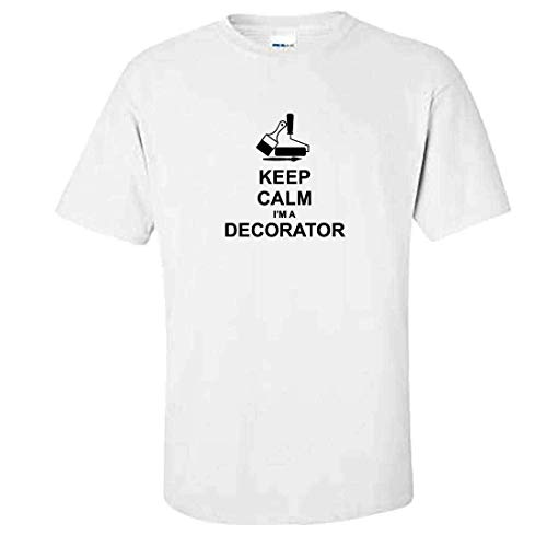 Fluse keep calm i'm a decorator 100% cotton t-shirt da uomo unisex per lo sport outdoor
