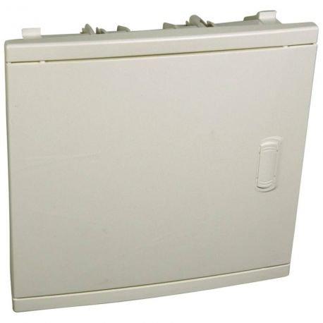 LEG01511 Set Unterputz Isolierstoff, formschöne Tür 1-reihig 12 Module: 2, Weiß