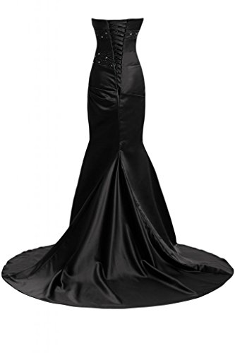 Sunvary Bella sirena abito da sera lungo Pageant-Costume da ufficiale, Donna Black