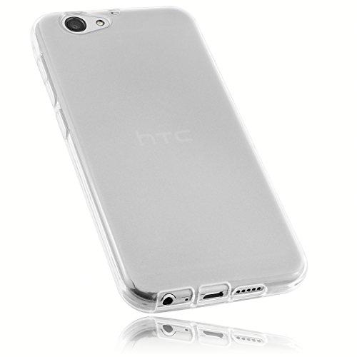 mumbi Schutzhülle für HTC ONE A9s Hülle transparent weiss