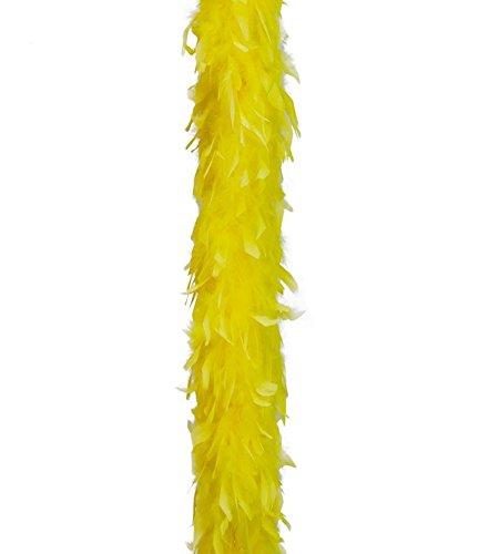 Guirca Boa de Pluma Amarilla DE 40 Gramos de 180 cm.