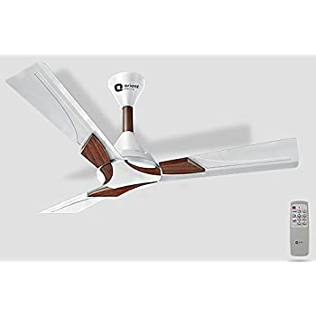 Orient Electric 1200mm 70 W Wendy Pearl Ceiling Fan without Remote, White Walnut