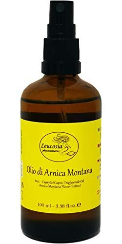 Olio di arnica montana - 100 ml - indicato per alleviare dolori muscolari. favorisce il riassorbimento di lividi ed ematomi. ideale anche per un massaggio prima e dopo l'attività sportiva.
