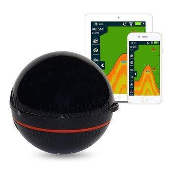 Aidashine Tragbare Sonar Fish Finder Bluetooth Wireless 48M / 157ft Tiefe Sea Lake Fish Detector, Angeln Fish Finder Humminbird Wandler Wechseln