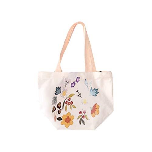 Männlich Kostüm Und Einfach Billig - Huacat Damen einfache Mode Druck Tasche tragbare umweltfreundliche Lunchtasche Stiletto Doppelschicht LäSsig Messenger Bag