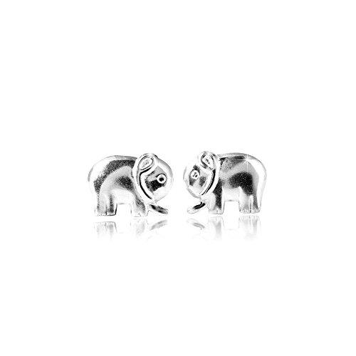 MATERIA joyería 925 plateado Elefant - para mujer Niños pendientes connettore elefantes...