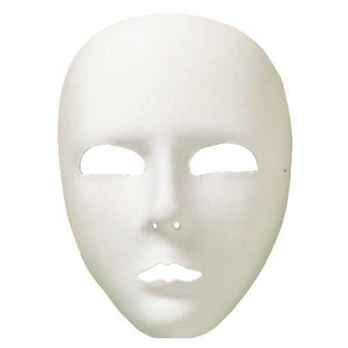 aus Textil, weiß (Voll Venezianische Maske)