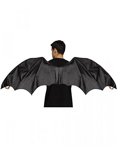 usflügel für Erwachsene 140cm für Fasching & Halloween (Fledermaus Flügel Halloween)