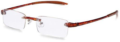 Visualites 201 Reading Glasses,Tortoise Frame/Clear Lens,1.00 Strength,48 mm