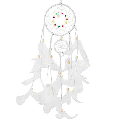 Bronze-feder-wand-beleuchtung (YLCTUAD 2 Meter Beleuchtung traumfänger hängen DIY 20 led Lampe Feder Handwerk windspiele mädchen Schlafzimmer romantische hängen Dekoration Geschenk)