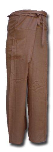 Thai Fisherman Pants Yoga beige écharpe longue pantalons paréos douces