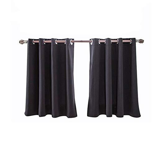 Crity - tende oscuranti isolate in schiuma e spesse, con occhielli, 2 pezzi nero