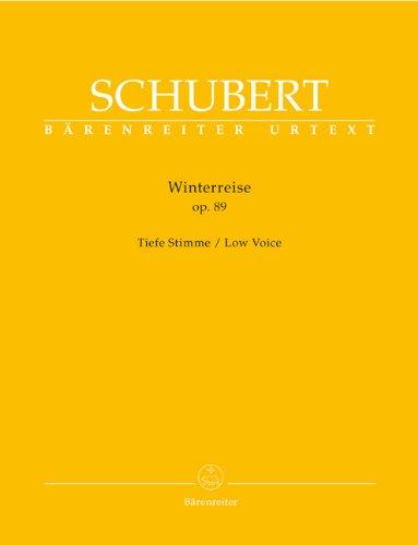 Winterreise op. 89: Tiefe Stimme. Vorwort von Walther Dürr über Entstehungsgeschichte und Quellenlage. Auf Grundlage der praktischen Gesamtausgabe sämtlicher Schuber-Lieder, Band 3