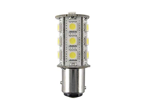 LAMPADA LED BAIONETTA IMBARCAZIONE BAY15D 3,2W = 35W LED 10-30Vdc LUCE FREDDA