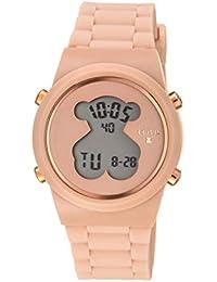 e389c27cec78 Reloj tous digital D-Bear de acero IP rosado con correa de Silicona nude Ref