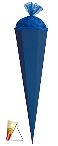 Schultüte Rohling - kräftiges BLAU - 85 cm