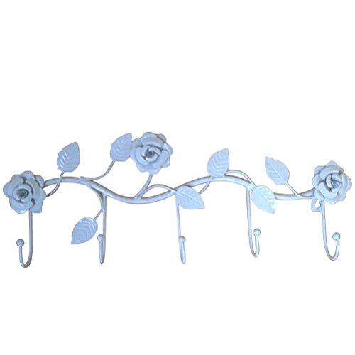 Ounona gancio attaccapanni di fiori in ferro con 5 ganci