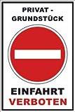Ein- Ausfahrt Schild Schilder -131- Privatgrundstück 29,5cm * 20cm * 2mm, ohne Befestigung