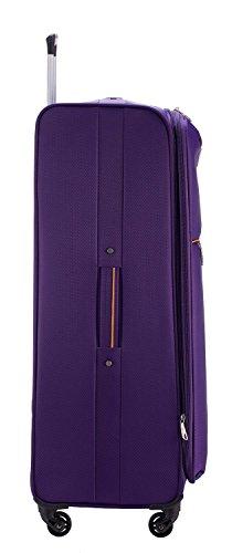 HAUPTSTADTKOFFER® 79 Liter (ca. 70 x 45 x 25 cm) Weichgepäck · Reisekoffer · MITTE LIGHT · in verschiedenen Farben (Blau) Lila