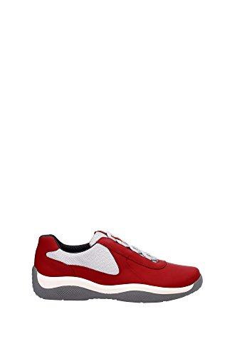 Prada Sneakers Herren - (4E2905ROSSO) 43 EU (Schuhe Prada Männer)