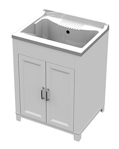 LAVATOIO Complete Floor Unit for Washbasin in White Resin, of, External Floor Unit for Washbasin, Sink 60x 50x 85h