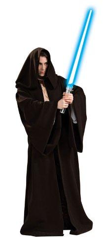 Kostüm Robe Jedi Super Deluxe - Star Wars Herren Super Deluxe Kostüm Jedi Robe Gr. L