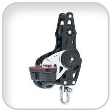 HARKEN 40 mm and 57 mm Carbo Mehrfarbig Blocks, 40 mm Carbo Mehrfarbig Block W/CAM BKT by Harken